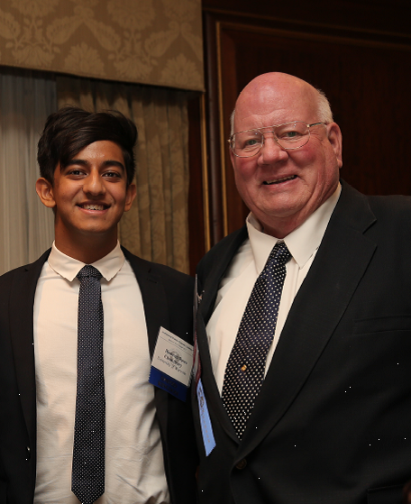 Dr. Gary Clayton with the 2015 Best Undergraduate Paper competition winner Hameem Raes Chowdhury!
